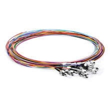 Tranças para cabos de fibra codificados por cores ST