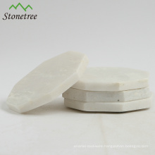 Wholesale Handmade Regular Hexagon Table Mat White Marble Coasters