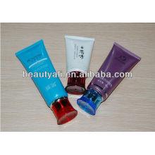 100ml tubo cosmético para el envase de la limpieza de la piel y el embalaje del tubo de la cremallera de la mano