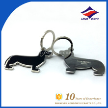 Factory wholesale special design black dog key chain