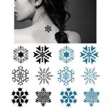 Los últimos diseños de tatuajes, los tatuajes de diseño de copo de nieve de larga duración despegan la pegatina