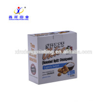 Customized Logo!Custom Printing Healthy Snack Food Paper Packaging Box for Chickpeas