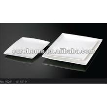 Посуда для гостиниц и банкетов: фарфоровые обеденные тарелки P0291