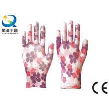 Gartenhandschuhe, Polyester-Shell-Nitril beschichtet, Sicherheits-Arbeitshandschuhe mit Ce, En388 (N6051)