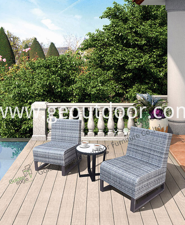 hand weaving rattan bistro set