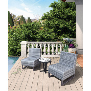 Handweberei und High-End-Rattan Bistro-Set