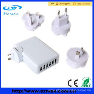 6 Port Smart USB Charger,intelligent wall charger