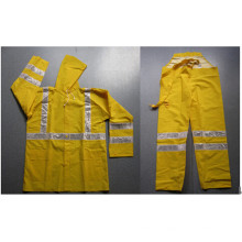 Cheap Waterproof Safety Rainsuit with 3cm Reflective Strip