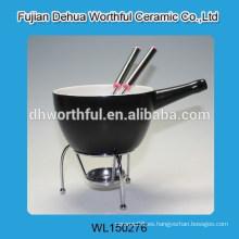 Popular fondue de chocolate de cerámica con palillo