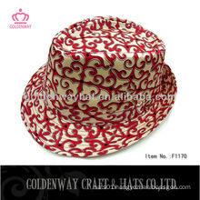 2013 Newest ladies cotton fedora hat beautiful for women classic