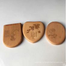 3D куклы маленькие круглые карманные деревянные зеркало