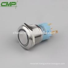 IP67 waterproof 19mm metal illuminated momentary led push button switch (TUV CE)