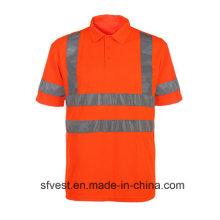 Hohe Sichtbarkeit Sicherheit Reflektierende Workwear T-Shirt