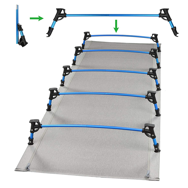 Patent foot design Camping Cot Bed