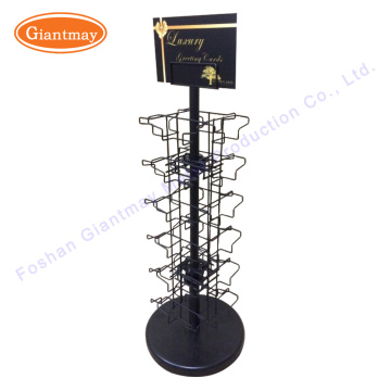 Customized Greeting Postcard Wire Rotating Display Postcard Counter Display Metal Stands Gift Cards Rotatable