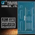 Luxury Safety Exterior Security Steel Door with Glass
