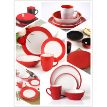 RED DINNER TABLEWARE