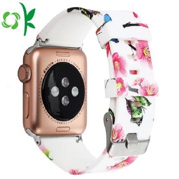 Correa de reloj de silicona deportiva con banda impresa para reloj