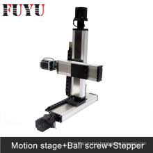 FUYU ballscrew Linear Motion Stage Systems nema34 stepper motor drive gantry type xy stage 3d printer parts robotic arm kit