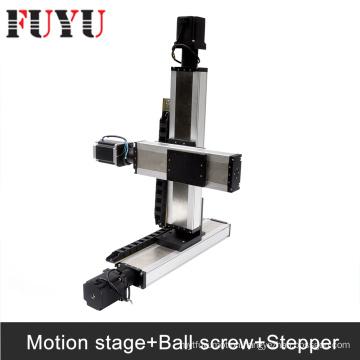 FUYU ballscrew Linear Motion Stage Systems nema34 stepper motor drive gantry type xy stage 3d printer parts robotic arm kit