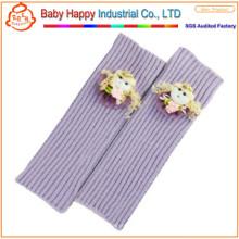 Heiße Verkaufsmädchen purpurrote weiche Kleinkindbeinwärmer
