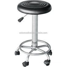 high quantity hospital revolving stool with wheels
