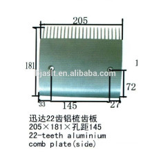 24 teeth aluminium comb plate/escalator parts
