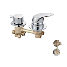 B&S Room Faucet wall  Mounted 4 functions 5 Function fashion bath accessory  OEM shower  diverter  valve brass faucet