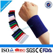 Bracelete do suor do esporte do algodão do presente da promoção da fábrica