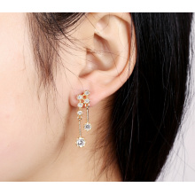 Wild Zircon Gold-Plated S925 Silver Needle Earrings