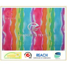 Twill Micro Fibre Rainbow Printing Short de plage / tissu de vêtement (ZCGP075)