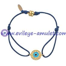 Navy Blue Evil Eye Braided  Bracelet  Wholesale