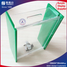 Recycling Transparent Donation Box with Lock