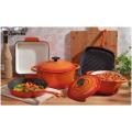 5 Pieces Enameled Cast Iron Parini Cookware Set