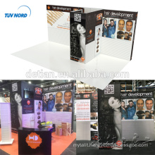 Detian Offer Simple Easy Assemble Trade Show Exhibition Booth with Slatwall