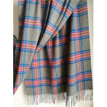 Kaschmir-Grau-Plaid-Schal für kaltes Wetter