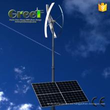 Sistema de energía híbrida eólica solar con turbina de eje vertical