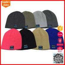 BV / BSCI LICENCIA moda buletooth sombrero de música gorro de punto