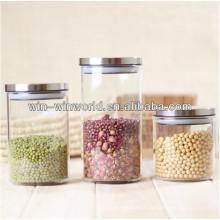 Vacuum Seal Large Glass Candy Jar With Stainless Steel Lid