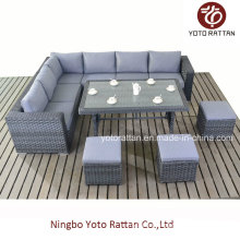 Wicker Furniture Sofa Set with Table (1504)