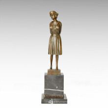 Klassische Statue Frugal / Plain Lady Bronze Skulptur, DH Chiparus TPE-178