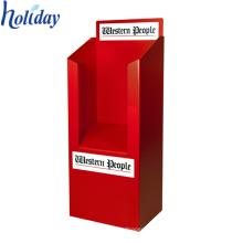 Exhibición acanalada modificada para requisitos particulares del compartimiento del volcado del soporte de la cartulina del accesorio de la tienda para la promoción