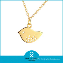 Collier en or massif 925 en argent sterling 24k (N-0303)