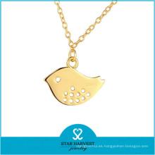 Collar de oro genuino de plata de ley 24k (N-0303)