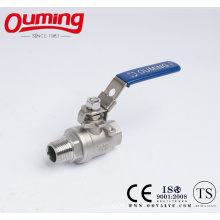 2PC Stainless Steel Ball Valve with Male Thread