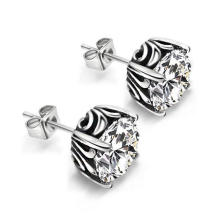 Zircon Ear Stud 316L Stainless Steel Couple Fashion Jewelry
