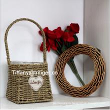 home decoration flowerpot vase basket seagrass woven flower Basket
