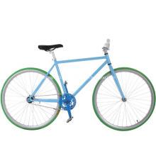 Bicicleta fixa colorida da engrenagem da trilha de aço das meninas