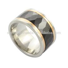 Großhandel 2014 hoch polnischen neuen billig Mode hochwertigen Edelstahl Herren schwarzen Keramik Ring aus Schmuck Hersteller