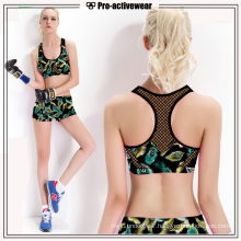 OEM Service Push up Sports Yoga Bra with Mesh